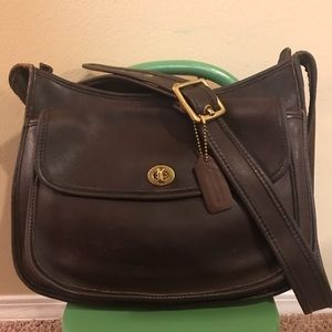 Coach vintage Taft bag brown leather bag No. 9980
